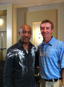 Montel Williams and I in Fort Lauderdale at the High Roller Event